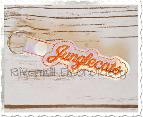 Junglecats In The Hoop Snap Tab Key Fob Machine Embroidery Design