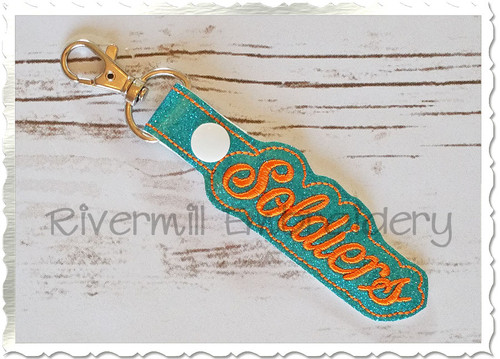Soldiers In The Hoop Snap Tab Key Fob Machine Embroidery Design