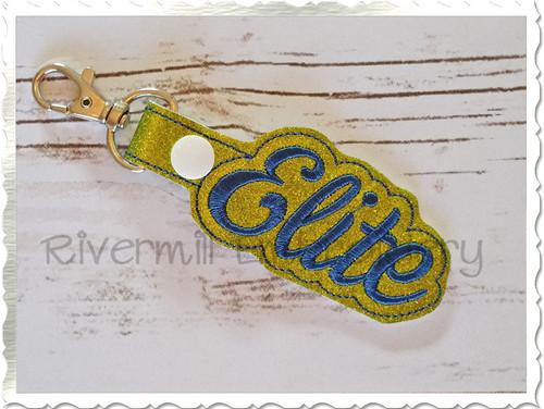 Elite In The Hoop Snap Tab Key Fob Machine Embroidery Design