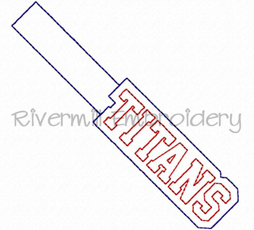 Titans In The Hoop Snap Tab Key Fob Machine Embroidery Design