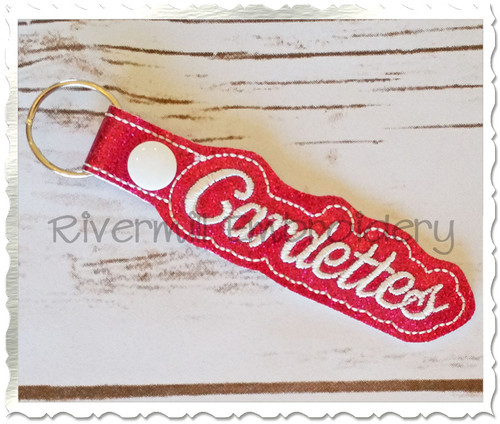 Cardettes In The Hoop Snap Tab Key Fob Machine Embroidery Design