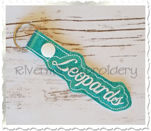 Leopards In The Hoop Snap Tab Key Fob Machine Embroidery Design