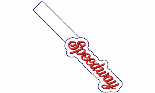 Speedway In The Hoop Snap Tab Key Fob Machine Embroidery Design