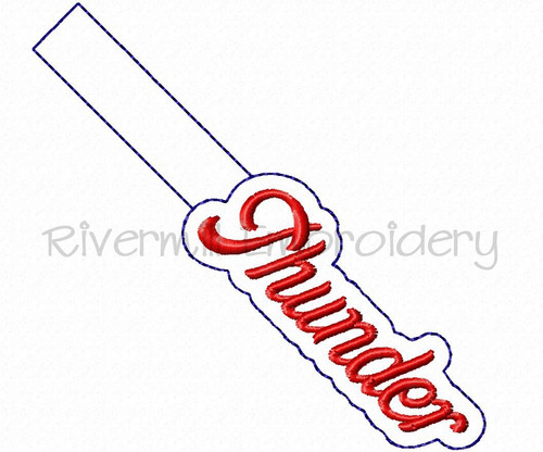 Thunder In The Hoop Snap Tab Key Fob Machine Embroidery Design