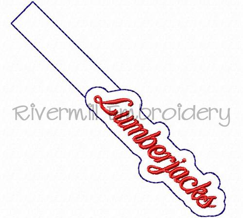 Lumberjacks In The Hoop Snap Tab Key Fob Machine Embroidery Design