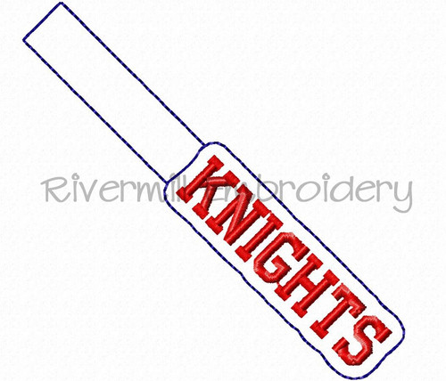 Knights In The Hoop Snap Tab Key Fob Machine Embroidery Design (Version 2)
