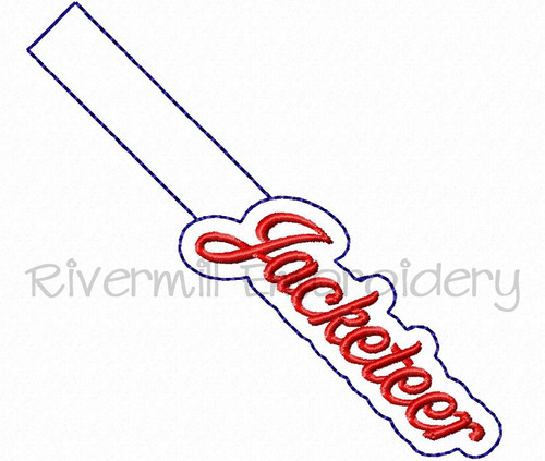 Jacketeer In The Hoop Snap Tab Key Fob Machine Embroidery Design