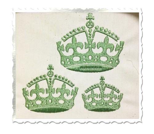 Small Fleur De Lis Crown Machine Embroidery Design