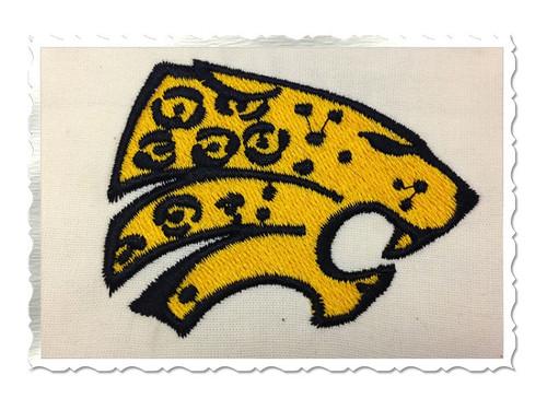 Jaguar Face Machine Embroidery Design (#2)