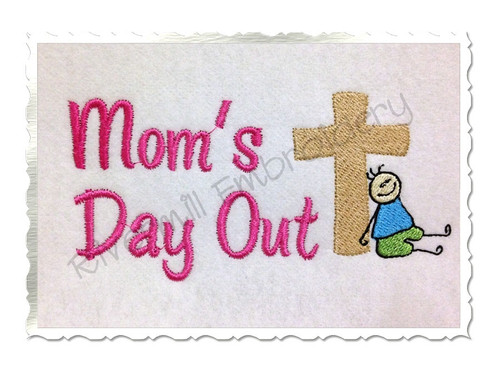 Mom's Day Out Machine Embroidery Design