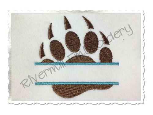 Small Split Bear Paw Machine Embroidery Design