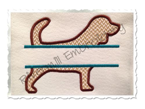 Split Beagle Dog Applique Machine Embroidery Design