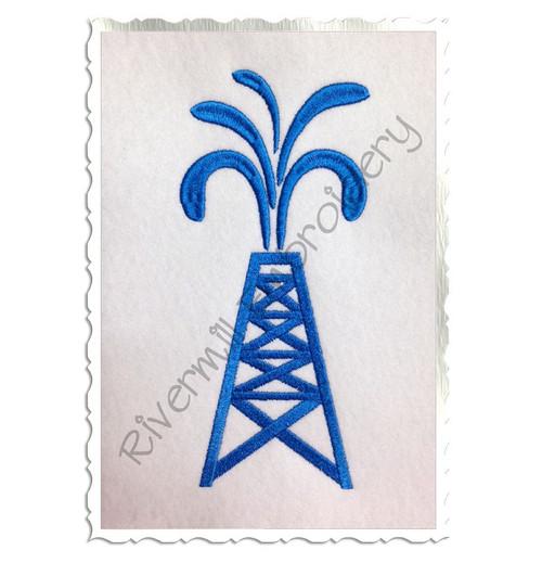 Oil Rig Machine Embroidery Design