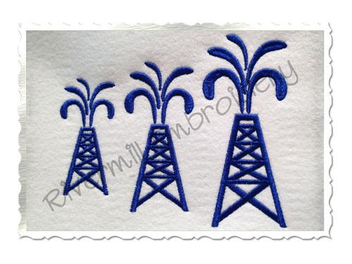 Small Oil Rig Machine Embroidery Design