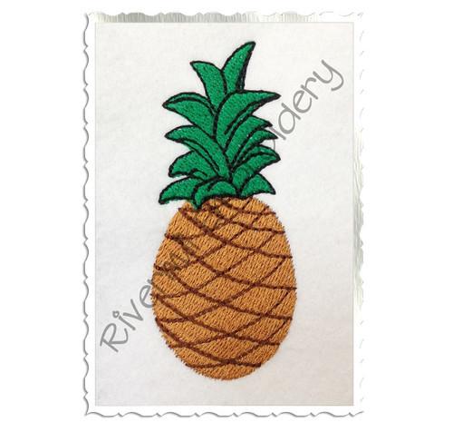 Small Pineapple Machine Embroidery Design