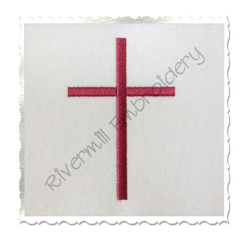 Small Cross Machine Embroidery Design