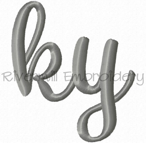 "Small Kentucky ""ky"" Machine Embroidery Design"
