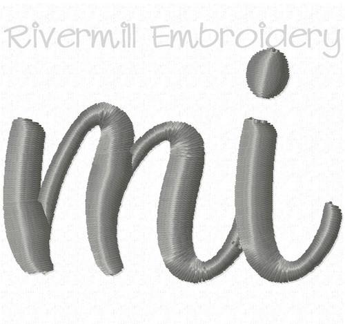 """Small Michigan """"mi"""" Machine Embroidery Design"""