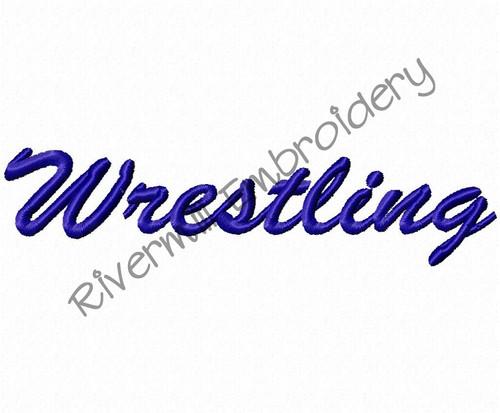 Wrestling Machine Embroidery Design