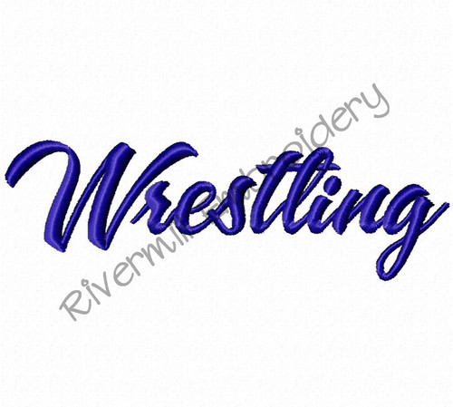 Wrestling Machine Embroidery Design