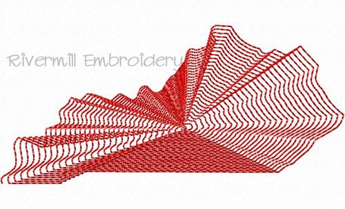 Large Spiral Stitch Kentucky Machine Embroidery Design