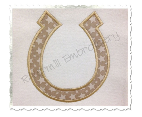 Applique Horseshoe Machine Embroidery Design