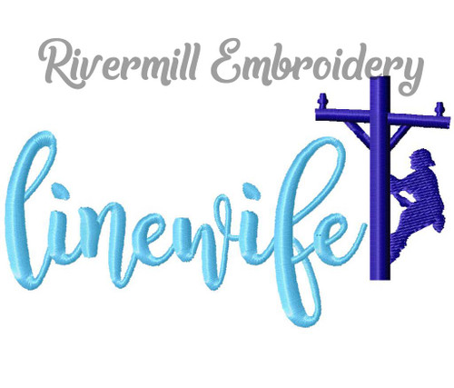 Line Wife Machine Embroidery Design