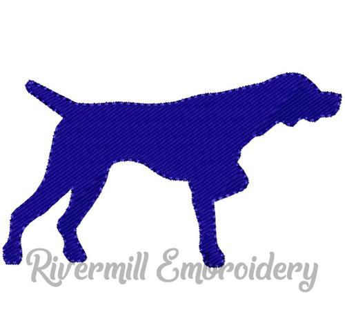 Small Fill Stitch Pointer Dog Machine Embroidery Design