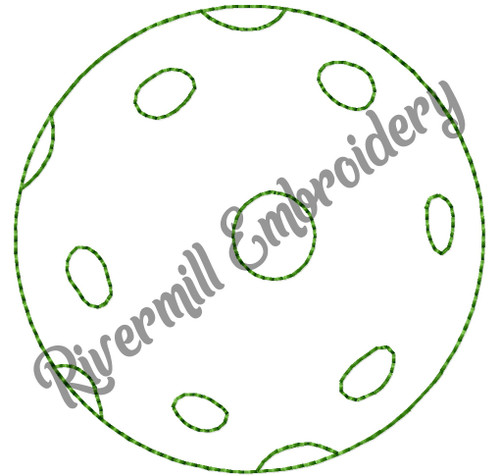 Pickleball Bean Stitch Machine Embroidery Design