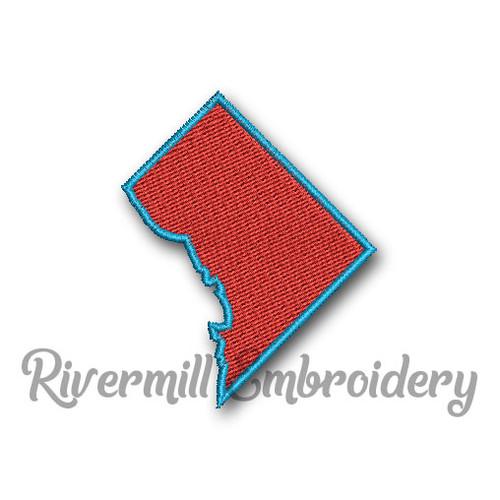 Small Fill Stitch Washington DC Machine Embroidery Design