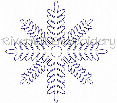 FREE Bean Stitch Snowflake Machine Embroidery Design