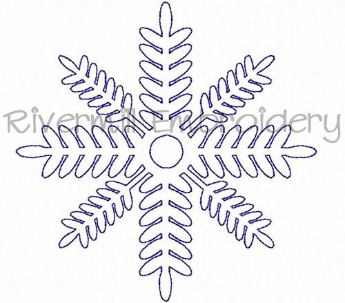 FREE Bean Stitch Snowflake Machine Embroidery Design