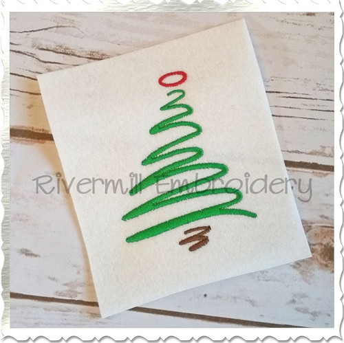 Scribble Christmas Tree Machine Embroidery Design