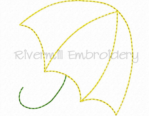 Doodle Umbrella Machine Embroidery Design