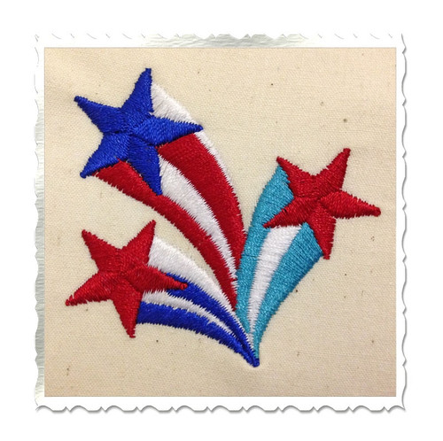Mini Shooting Stars Machine Embroidery Design