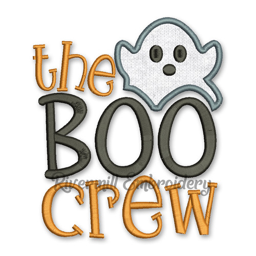The Boo Crew Halloween Machine Embroidery Design
