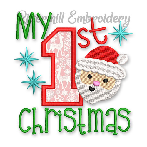 My 1st Christmas Machine Embroidery Design