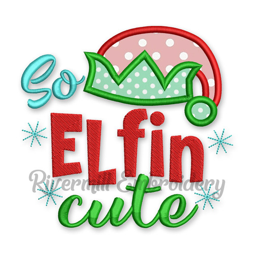 So Elfin Cute Christmas Machine Embroidery Design