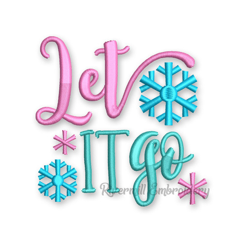Let It Go Christmas Toilet Paper Machine Embroidery Design