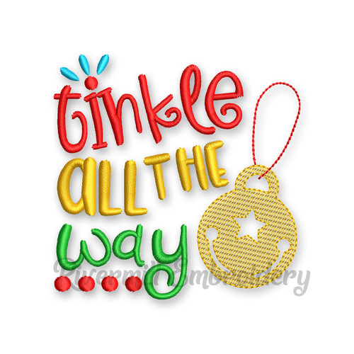 Tinkle All The Way Christmas Toilet Paper Machine Embroidery Design