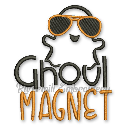 Ghoul Magnet Halloween Machine Embroidery Design