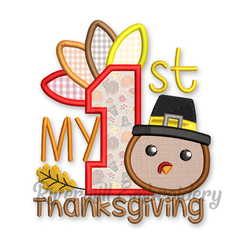 My 1st Thanksgiving Machine Embroidery Design