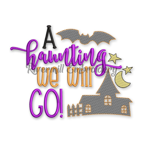 A Haunting We Will Go Halloween Machine Embroidery Design