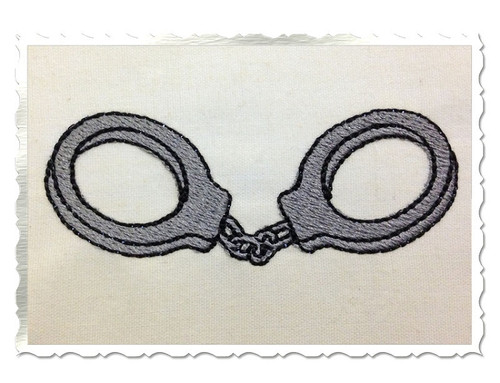 Mini Handcuffs Machine Embroidery Design