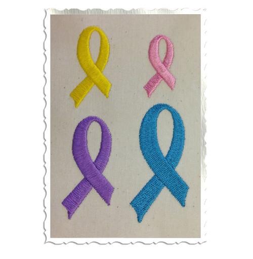 Mini Awareness Ribbon Machine Embroidery Design