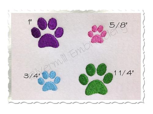 Mini Paw Print Machine Embroidery Design