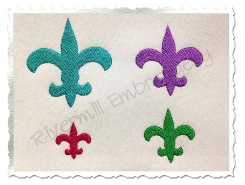 Small Fleur De Lis Machine Embroidery Design