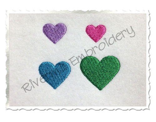 Mini Heart Machine Embroidery Design