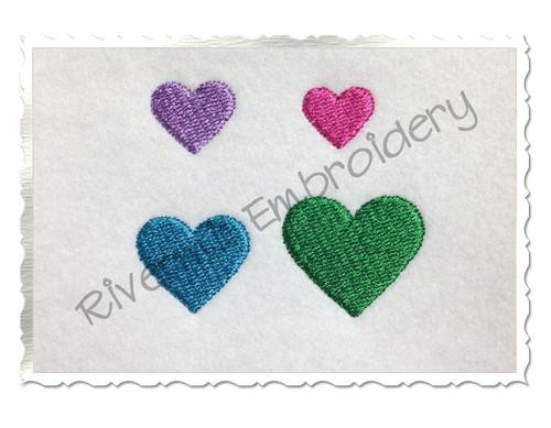Mini Heart Machine Embroidery Design