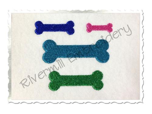 Mini Dog Bone Machine Embroidery Design
